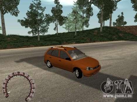 Lada 1117 Kalina pour GTA San Andreas sur la vue arrière gauche