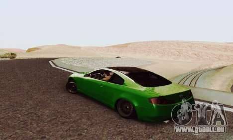 Infiniti G35 Hellaflush für GTA San Andreas zurück linke Ansicht