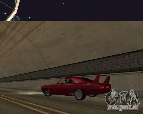 Dodge Charger Daytona für GTA San Andreas Innenansicht