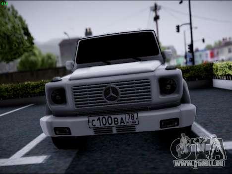 Mercedes-Benz G500 für GTA San Andreas Rückansicht