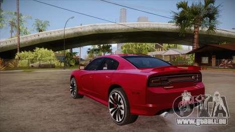 Dodge Charger SRT8 2012 pour GTA San Andreas sur la vue arrière gauche