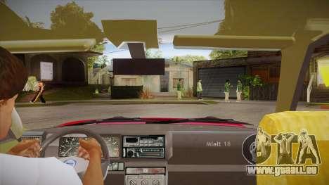 Lancia Delta Integrale EVO-2 pour GTA San Andreas vue intérieure