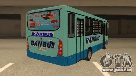 BANBUS Bus Srb. pour GTA San Andreas vue de droite