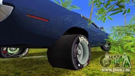 Plymouth Barracuda Supercharger für GTA Vice City obere Ansicht