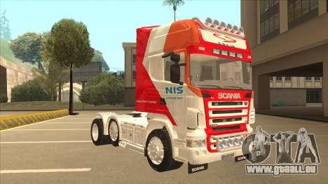 Scania R620 Nis Kamion pour GTA San Andreas laissé vue