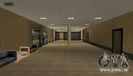 Retekstur l'intérieur de l'hôtel de ville pour GTA San Andreas troisième écran