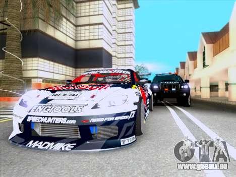 Mazda RX-8 NFS Team Mad Mike pour GTA San Andreas vue arrière