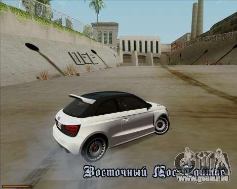 Audi A1 Clubsport Quattro pour GTA San Andreas vue de dessus