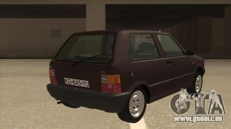 Yugo Uno 45 R 1994 für GTA San Andreas rechten Ansicht