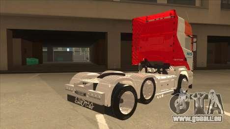 Scania R620 Nis Kamion pour GTA San Andreas vue de droite