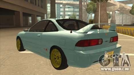 Honda Integra JDM Version pour GTA San Andreas sur la vue arrière gauche