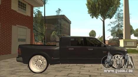 Dodge Ram Laramie Low pour GTA San Andreas sur la vue arrière gauche