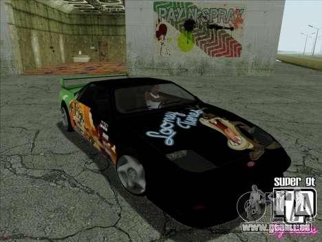 Super GT HD pour GTA San Andreas vue de dessus