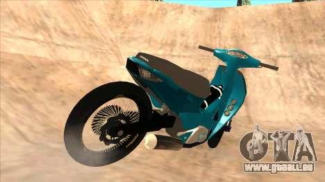 Honda 125cc Tuning für GTA San Andreas zurück linke Ansicht