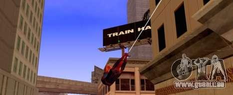 Spider-Man fliegt im Web für GTA San Andreas zweiten Screenshot