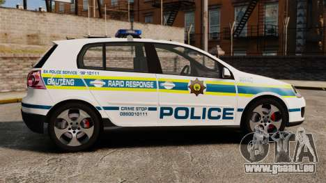 Volkswagen Golf 5 GTI Police v2.0 [ELS] pour GTA 4 est une gauche