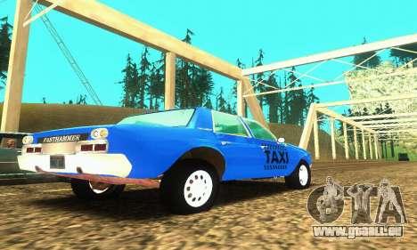 Fasthammer Taxi pour GTA San Andreas vue de droite