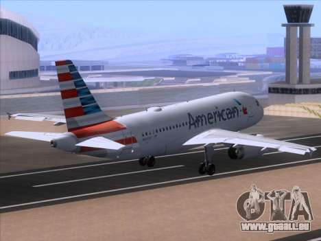 Airbus A319-112 American Airlines pour GTA San Andreas vue intérieure