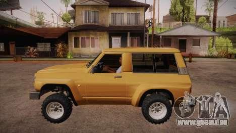 Nissan Patrol Y60 pour GTA San Andreas laissé vue