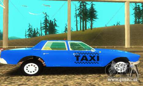 Fasthammer Taxi pour GTA San Andreas vue intérieure