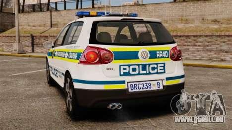 Volkswagen Golf 5 GTI Police v2.0 [ELS] pour GTA 4 Vue arrière de la gauche