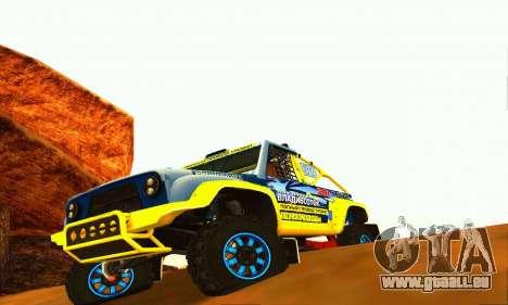 UAZ 31514 Rally pour GTA San Andreas laissé vue