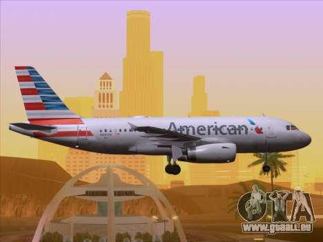 Airbus A319-112 American Airlines pour GTA San Andreas salon