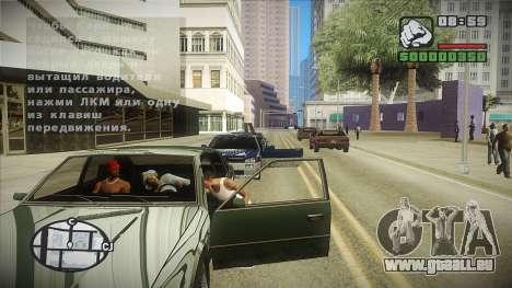 GTA HD mod 2.0 pour GTA San Andreas troisième écran
