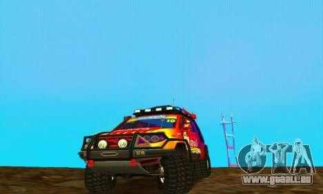 UAZ Patriot essai pour GTA San Andreas sur la vue arrière gauche