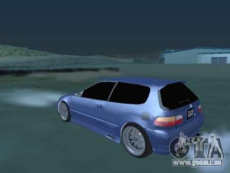 Honda Civic (EG6) 1994 pour GTA San Andreas sur la vue arrière gauche