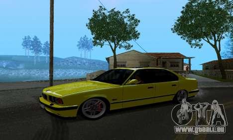 BMW M5 E34 IVLM v2.0.2 pour GTA San Andreas laissé vue
