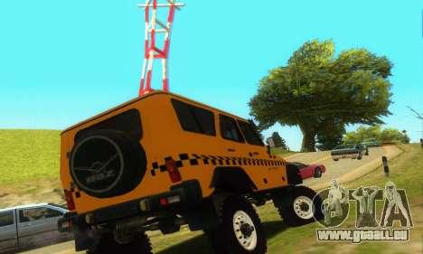 UAZ Hunter Taxi pour GTA San Andreas vue de droite