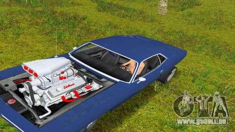 Plymouth Barracuda Supercharger pour une vue GTA Vice City de la gauche