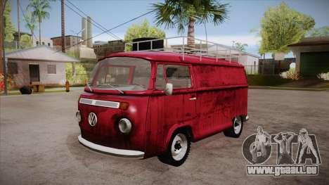 Volkswagen Transporter T2 Custom für GTA San Andreas Seitenansicht