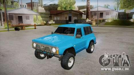 Nissan Patrol Y60 für GTA San Andreas obere Ansicht