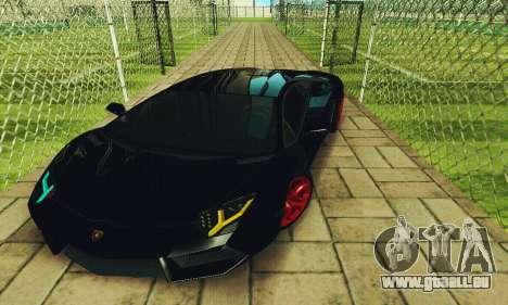 Lamborghini Aventador LP700 für GTA San Andreas Seitenansicht