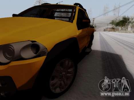 Fiat Strada Adv Locker für GTA San Andreas rechten Ansicht