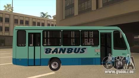 BANBUS Bus Srb. pour GTA San Andreas sur la vue arrière gauche