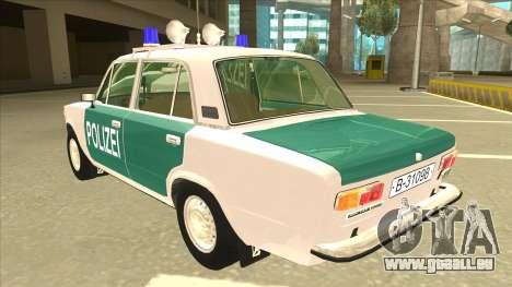 VAZ 21011 DDR police pour GTA San Andreas vue arrière