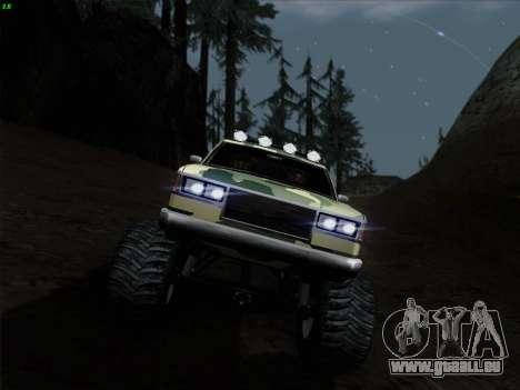 Camouflage pour Monster pour GTA San Andreas vue de côté