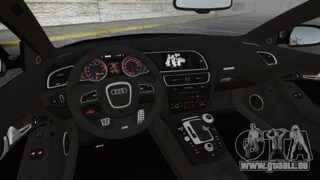 Audi RS5 2011 v2.0 pour GTA 4 vue de dessus