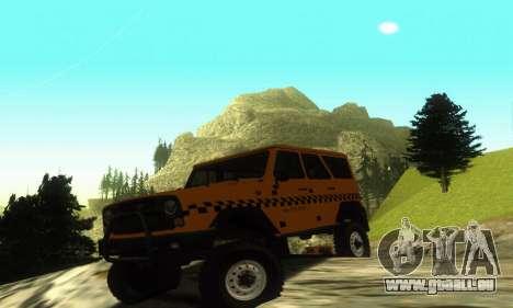 UAZ Hunter Taxi pour GTA San Andreas laissé vue