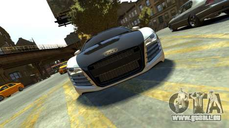Audi R8 für GTA 4 Rückansicht