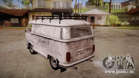 Volkswagen Transporter T2 Custom für GTA San Andreas zurück linke Ansicht
