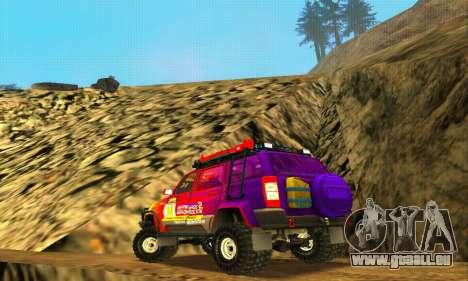 UAZ Patriot essai pour GTA San Andreas vue de dessus