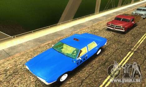 Fasthammer Taxi pour GTA San Andreas vue de dessus