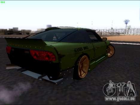 Nissan 180sx Takahiro Kiato für GTA San Andreas zurück linke Ansicht
