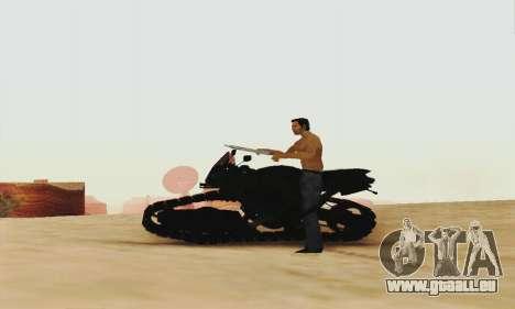 Mercenaries 2 Panzercycle für GTA San Andreas zurück linke Ansicht