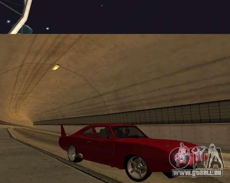 Dodge Charger Daytona für GTA San Andreas obere Ansicht