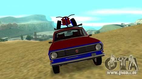 Volga gaz-24 Fun pour GTA San Andreas laissé vue